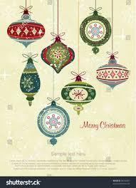 retro christmas ornaments stock vector 85746451 shutterstock