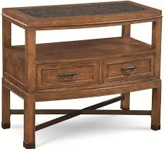 Granite Top Bedroom Furniture Sets by Thomasville American Anthem Night Stand W Honed Granite Stone