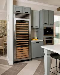 photos hgtv contemporary kitchen with gray cabinets and wine