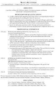 Opera Resume Template Resume Program Coordination And Promotion Susan Ireland Resumes