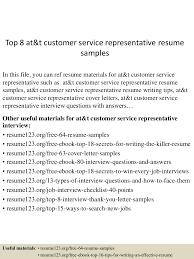 customer service resumes samples top 8 at t customer service representative resume samples