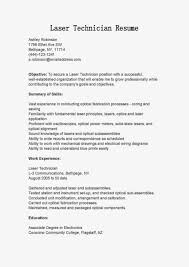 Technical Resume Objective Telecommunications Technician Resume Objective Field Technician