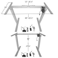 Automatic Height Adjustable Desk by Titan Single Motor Electric Adjustable Base Height Sit Stand