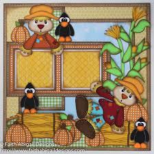 thanksgiving scrapbook paper scarecrow friends 12