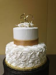 golden wedding cakes 50th anniversary wedding cakes wedding corners