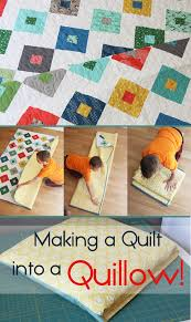 how to make a quilt into a quillow cluck cluck sew