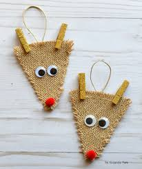 burlap reindeer ornament the resourceful
