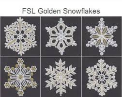 fsl snowflakes 8 free standing lace ornament machine