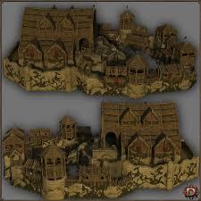 medieval small castle 3d models dante78