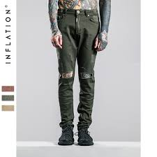 Mens Destroyed Skinny Jeans Pure Denim Jeans Picture More Detailed Picture About Inflation