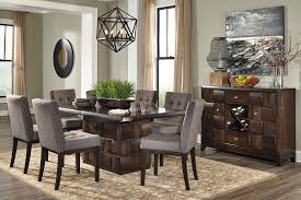 dining room sets for 8 8 contemporary dining room set brown wood gray