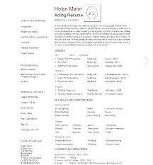acting resume template for microsoft word actor resume template word page acting resume template theater