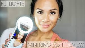 lights when phone rings flii lights mini ring light review selfie video fill light youtube