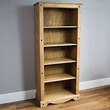 42 Wide Bookcase Maine Tall Extra Wide Deep Bookcase Oak Effect 42 Amazon Co Uk