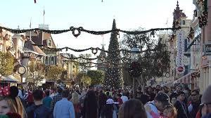 disneyland california main street usa at christmas holiday