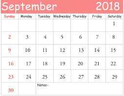 september 2018 calendar pdf september 2018 calendar template