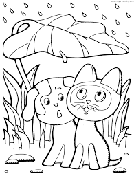 magic coloring kitten named woof coloring pages difrents