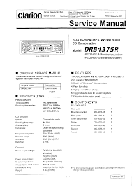 clarion drb4375r service manual immediate download