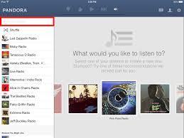 use pandora radio on your ipad