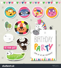 greeting cards gifts stickers zoo baby stock vector 453401827