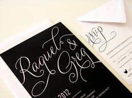 Color Combination With White Black Wedding Invitations With Black And White Color Combination