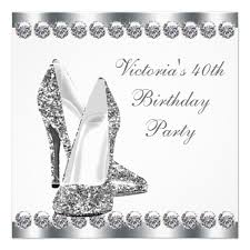 personalized womans elegant 30th birthday party invitations