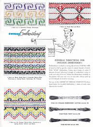 free swedish embroidery patterns archives vintage crafts and more