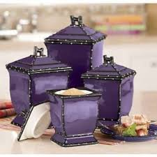 purple canisters for the kitchen black kitchen canisters foter