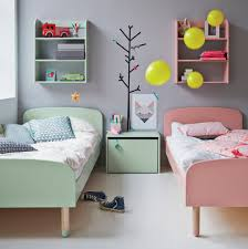 flexa kids single beds in mint green and pink the perfect pastel