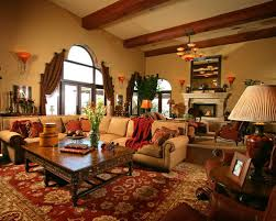 Large Family Room Houzz - Tuscan family room
