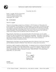charity rejection letter sample keith leggett s credit union watch 2012 ncua s denial of foia