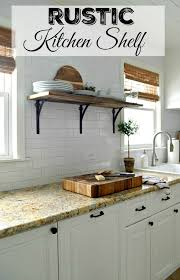 Barn Wood Shelves Rustic Kitchen Shelf