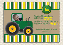 tractor birthday invitations blueklip com
