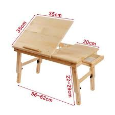 basic lap table bed tray solid wood foldable notebook laptop table adjustable height angle