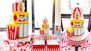 Carnival Themed Table Decorations Circus Themed First Birthday Party