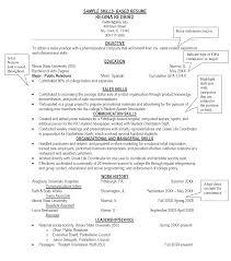 Sample Resume Templates Skills Pro Resume Sample Sample Of Resume Skills Medical