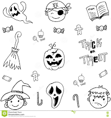 doodle of cute face halloween stock vector image 73018413