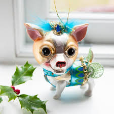 glass chihuahua dog bauble by the christmas home