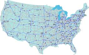 America Map With States by Interstate Highway System American Adventure