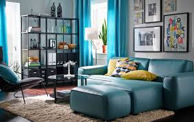 light blue paint color for stunning swedish living room with blue