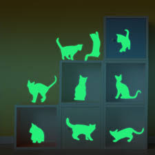 glow in the dark room decals lotus glow in the dark wall decals funlife 13x100cm luminous cat wall stickers fluorescent decals removable waterproof home decor glow in the dark