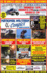 monster truck show times monster truck winter nationals alice 105 9