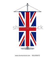 waving union jack flag against white stock photo 49131799