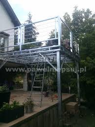 balkon und terrasse terrasse metall stahl terrasse in lodz sonstiges für den