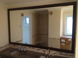 how to frame a bathroom mirror with molding wooden bathroom mirrors