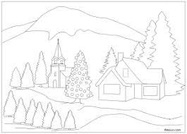 Paysage De Noel A Imprimer  Design à la maison