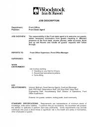 Front Desk Receptionist Sample Resume by Front Desk Job Description Simple Media Sales Resume Example That