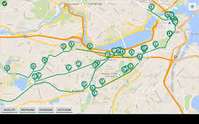 Boston Google Maps by Boston Subway Map Green Line My Blog
