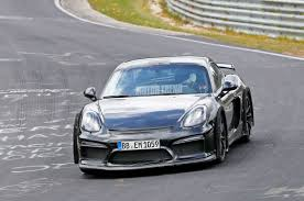 new porsche 2018 new porsche 718 cayman gt4 seen testing on the nurburgring motor