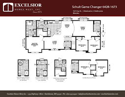 schult modular home floor plans schult game changer 6428 1673 excelsior homes west inc